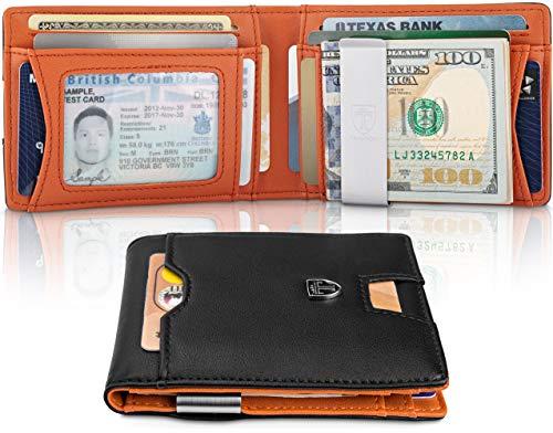 TRAVANDO Slim Wallet with Money Clip RFID Blocking Wallet AUSTIN Credit Card Holder   Travel Wallet   Minimalist Mini Wallet Bifold for Men Mens Mans Gift Box