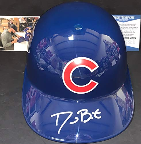 Chicago Cubs Autographed Helmets - David Bote Chicago Cubs Autographed Signed Souvenir Full Size Helmet