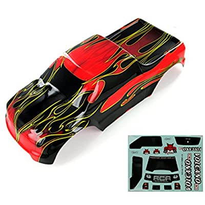 Redcat Racing 88049-R Truck Body (1/10 Scale, Red Flame): Toys & Games