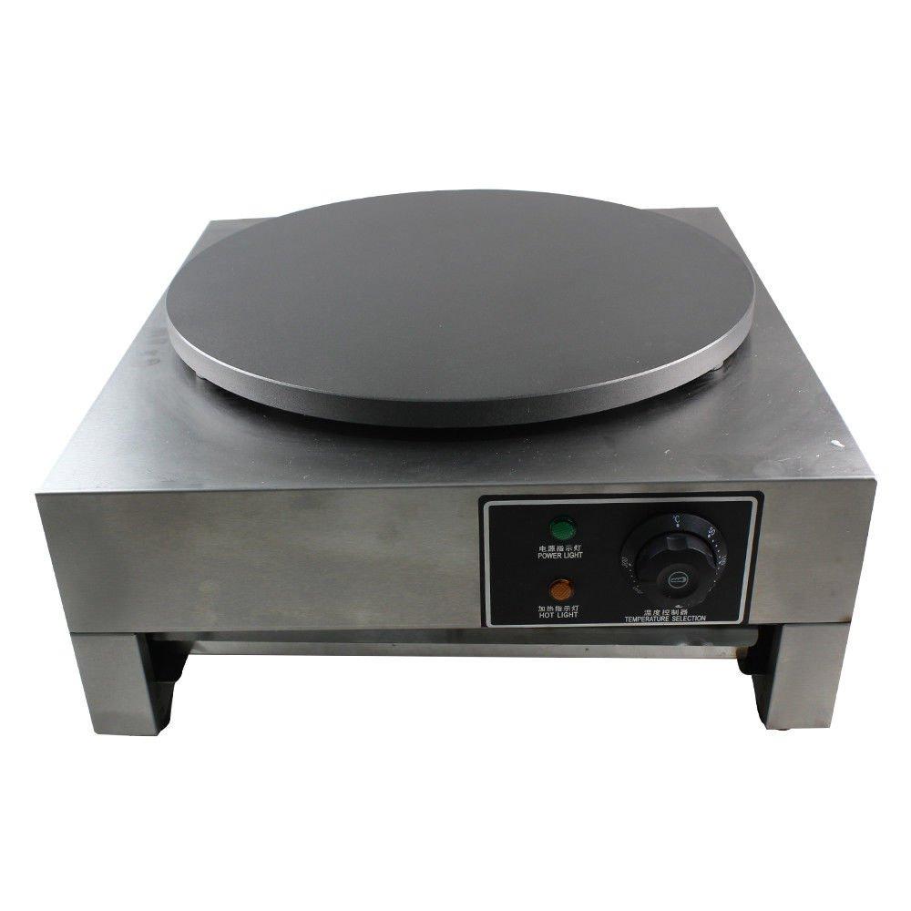 Crepe Maker Machine Pancake Griddle 3KW 16 Commercial Nonstick Electric Crepe Maker Pancake Machine Kitchen US Stock