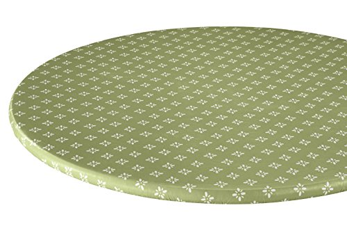 Heritage Vinyl Elasticized Table Cover by HSK ()