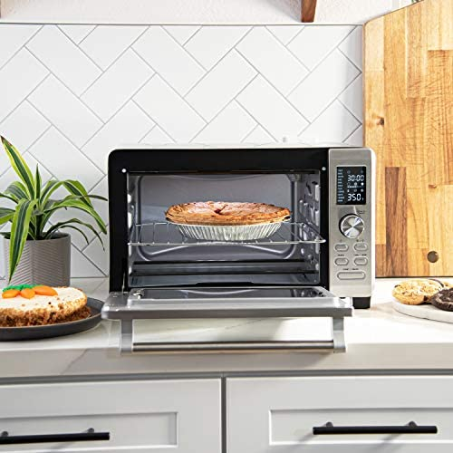 COSORI Air Fryer Toaster Oven Combo, 11-in-1 Countertop Dehydrator for Chicken, Pizza and Cookies, 30 Recipes & 4 Accessories Included, Work with Alexa, 25L, Silver
