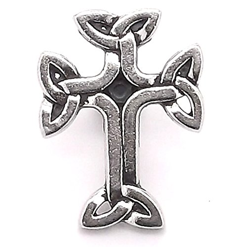 (Celtic 3D Cross Concho Snap Cap Black Epoxy 1
