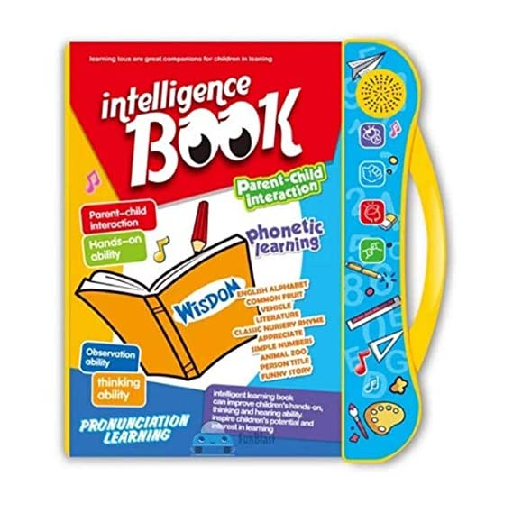 FunBlast Interactive Children Book -Musical English Educational Phonetic Learning Book for 3 + Year Kids Boys Toddlers