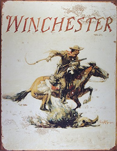 winchester-arms-tin-metal-sign-horse-and-cowboy-logo