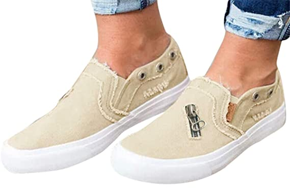 2115dc65bc686 Amazon.com: Womens Canvas Shoes Flat Sports Running Shoes Summer ...