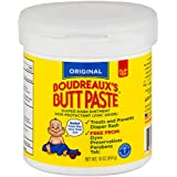 Boudreaux's Butt Paste Diaper Rash Ointment - Original - Contains 16% Zinc Oxide - Pediatrician Recommended - Paraben and Preservative-Free - 16 Ounce (Packaging May Vary)