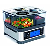 Viante CUC-30ST Intellisteam Counter Top Food Steamer with 3 Separate Compartments, Black