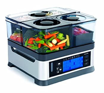 #5 VIANTE CUC 30ST INTELLISTEAM COUNTER TOP FOOD STEAMER WITH 3 SEPARATE  COMPARTMENTS
