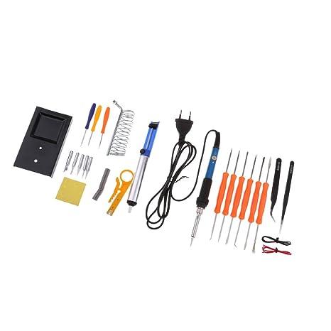 Homyl Bricolaje Ajustable Temperatura Soldadura Eléctrica Soldador Kit Con Caja A