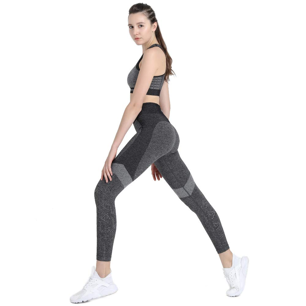 bc2f15dcf5e Amazon.com  PLAYBOLD Workout Leggings for Women High Waist Comfort Seamless  Workout Pants Gym Leggings Fitness Pants Yoga Pants  Sports   Outdoors