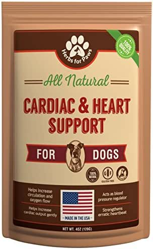Dog Cardio Strength Heart Murmur Hawthorn Supplement, Hawthorne for Dogs Vitamins for pet Heart Health| Made in USA - 4.0 OZ