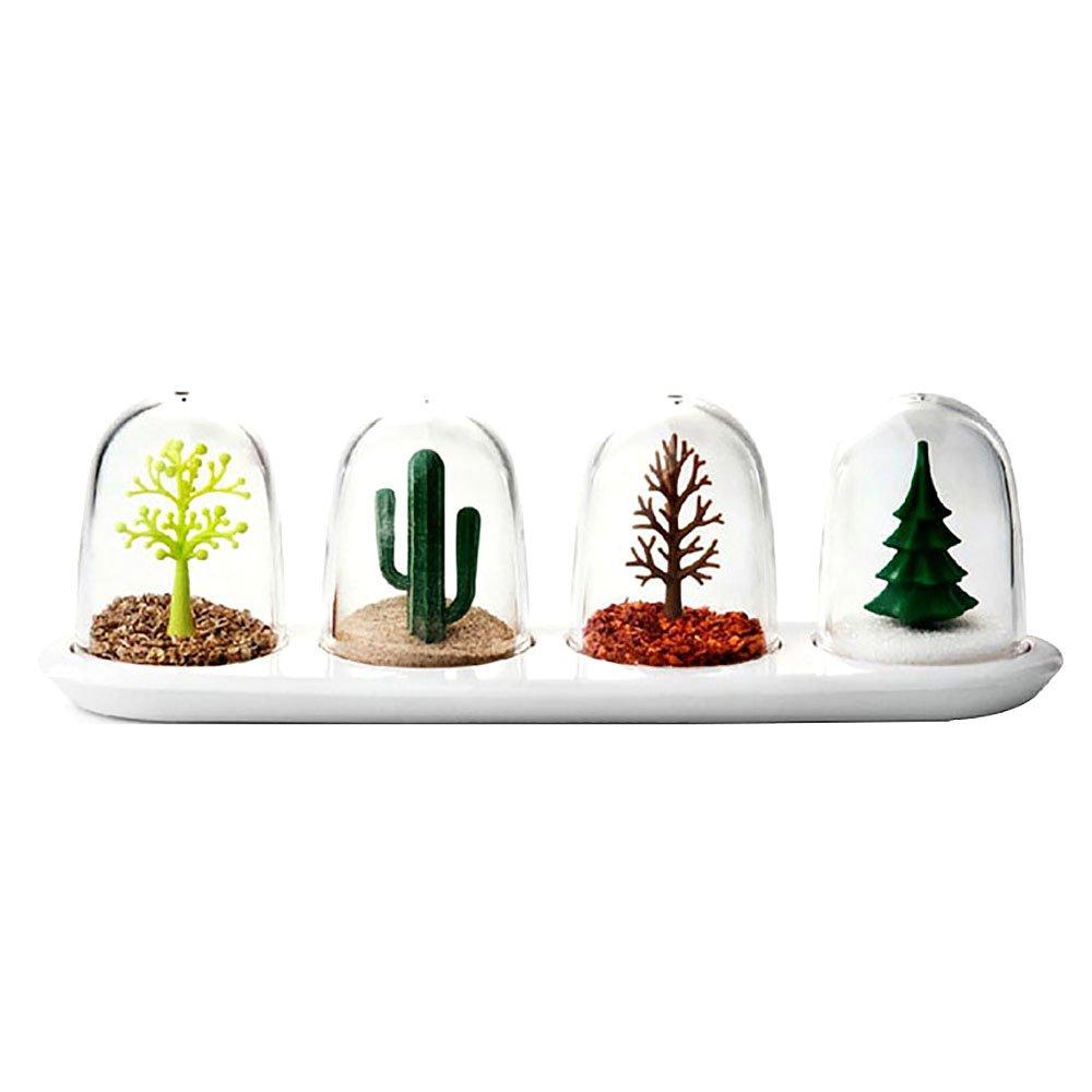 HuntGold Beautiful Four Seasons Plant Shakers Spice Jar 4 pcs/set Creative Animals Seasoning Bottle Salt Su(seasons plant set)