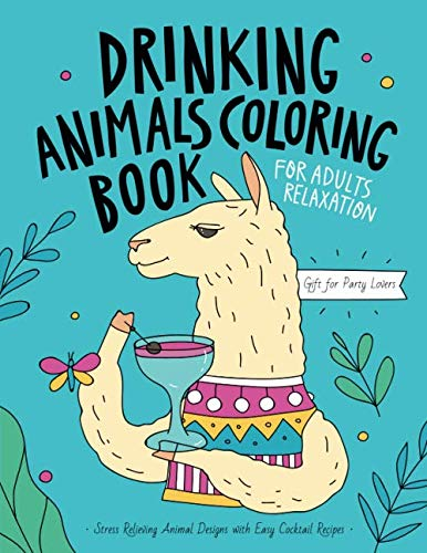 and Relaxing Coloring Pages for Animal Lovers Easy Cute Animals An Adult Coloring Book with Fun