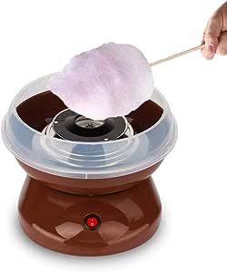 KOUQI El Caramelo De Algodón Algodón De Azúcar Máquina con Azúcar Paquete, Fabricante del Caramelo De Algodón Desmontable para Cumpleaños Y Fiestas, Fácil De Limpiar Y Uso: Amazon.es