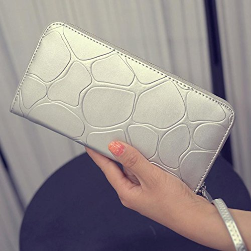 JD Million shop 2017 New fashion Women Wallets female cards holders gold silver PU wallet coin purses girl Long Wallet lady - To Card Egift Cash