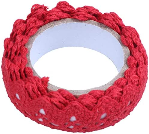 Fanuse 1x Spitzenband Geschenkband Dekoband Selbstklebend Lace Deko Hochzeit Weihnachten DIY Dekoration Bilderrahmen Lila 1.8 170cm