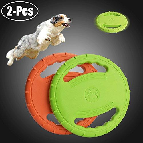 Legendog Flying Disc, Soft Floating Dog Catcher Toy Dog Toys for Pet Training & Chewing (1 Pcs ()