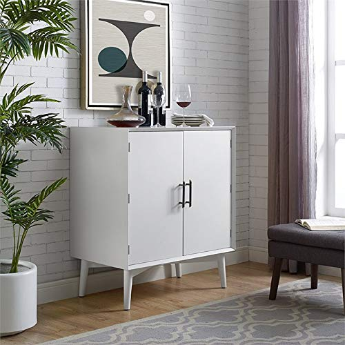 Crosley Furniture CF4403-WH Landon Mid-Century Modern Bar Cabinet, White