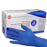 Dynarex High Risk Latex Exam Gloves, Blue 15 mil, Large, Case/500 (10 Boxes of 50)