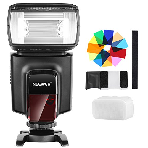 peedlite with 12 Color Filters and Hard Diffuser Kit for Canon Nikon Panasonic Olympus Pentax and Other DSLR Cameras ()