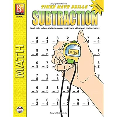 Timed Math Drills: Subtraction | Reproducible Activity Book: Kitty Scharf: Office Products