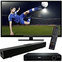 Proscan 40-Inch 1080p 60Hz LED HDTV with HDMI 1080p High Definition DVD Player and Solo X3 Bluetooth Sound Bar Bundle