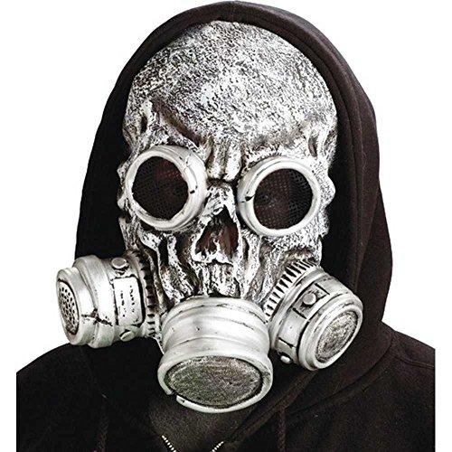 Silver Bio Zombie Gas Mask