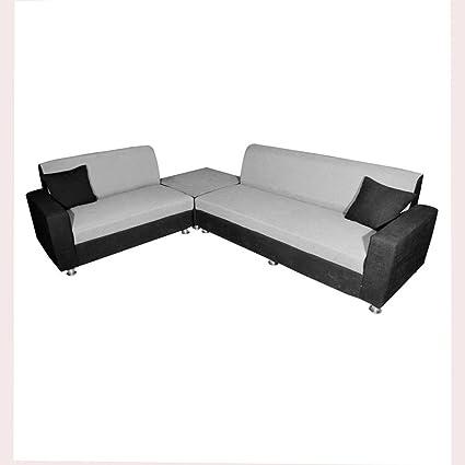 Bharat Lifestyle Cosmo Corner Fabric L Shape Sofa, 6 Seater (3+2+