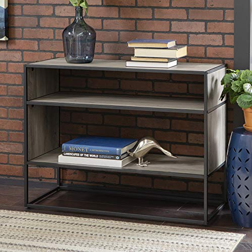 "WE Furniture AZF40JERGW Bookshelf, 40"", Grey Wash"