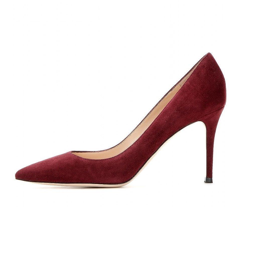 bb056efb2c9b EDEFS Escarpins Femme - Chaussures à Talons Hauts - Bout Pointu fermé -  Classique Bureau Soiree