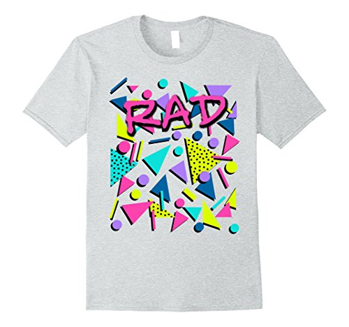 Mens Rad 80s Throwback T-Shirt XL Heather Grey