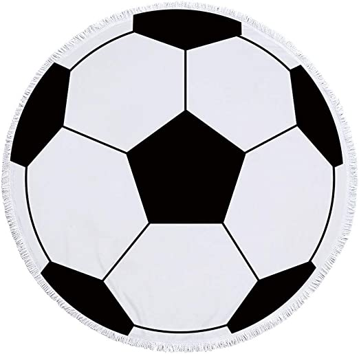 Toalla Playa Microfibra Anti-Arena Diámetro 59 Pulgadas Fútbol ...