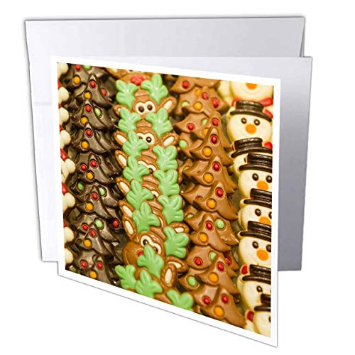 (3dRose Danita Delimont - Candy - Belgium, Bruges. Belgian Chocolate Shop. - 12 Greeting Cards with envelopes (gc_313065_2))