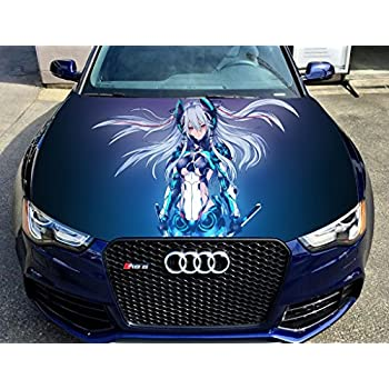 Full color sticker anime car hood vinyl sticker car vinyl graphics decal wrap