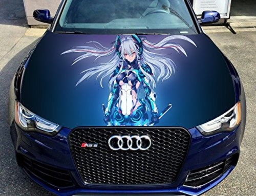 Full Color Sticker Anime Car Hood Vinyl Sticker Car Vinyl Graphics Decal Wrap Car Hood Graphics Fit Any Vehicles Mh102