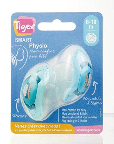 Tigex 80603364 Soothers inteligentes, 18-36 meses, colores surtidos, paquete de 2 piezas