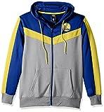 NBA Men's Golden State Warriors Full Zip Hoodie Sweatshirt Jacket Contrast Back Cut, Medium, Blue