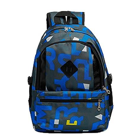 ALIKEEY Unisex Camouflage Oxford Impermeable Middle School Student Bolsa Bolsa De Viaje Perros Parfois Plateados