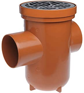 "110mm 4/"" Underground Drainage Bottle Gully Square Top Adapter"