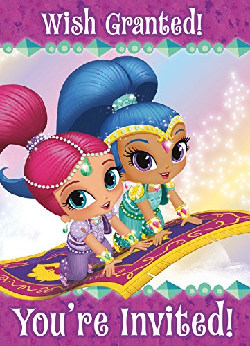 Shimmer and Shine Invitations, (Costume Party Invitations Ideas)