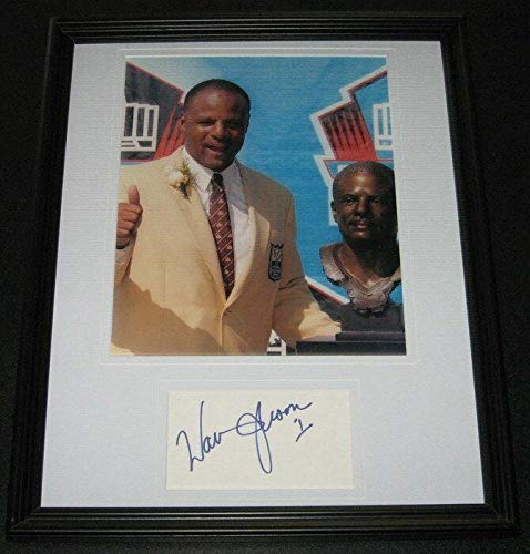 - Warren Moon Signed Photograph - Framed 11x14 Display HOF Induction - Autographed NFL Photos