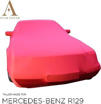 Autoabdeckung Rot Passend FÜr Mercedes Benz R129 Mit Spiegeltaschen Ganzgarage Innen SchutzhÜlle Abdeckplane Schutzdecke Cover Auto