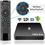 [2018 LATEST VERSION] SHOEKI A95X Pro TV Box with VOICE Remote Control Android 7.1 Amlogic S905W quad core 2G+16G Smooth and HD 4K Internet Streaming Media Player HDMI and WIFI Support