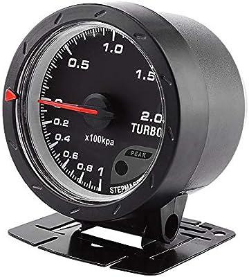 Keenso 60mm LED Turbo Boost Vacuum Press Gauge Meter Black Shell Universal For Auto Racing Car 0-200 Kpa