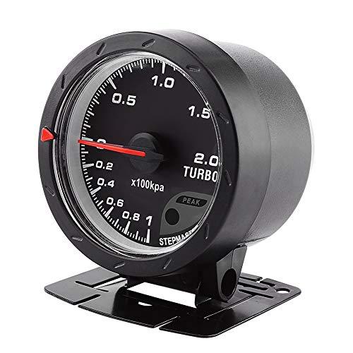 Universal 60mm Boost Gauge Digital LED Turbo Gauge Boost Meter Vacuum Press Black Shell for Auto Racing Car 0-200 Kpa: