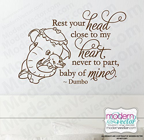 Amazon Disney Dumbo Quote Vinyl Wall Decal Nursery Room Handmade Enchanting Dumbo Quotes