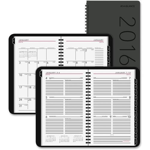 70100X05 At-A-Glance Contemporary Weekly/Monthly Planner - Weekly, Monthly - 4.88