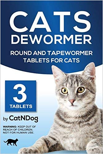 Cats Dewormer Round and Tapewormer Tablets for Cats