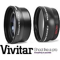 2Pc Lens Kit Hi-Definition Telephoto & Wide Angle Lens Set For Nikon D5300 D3300 (52mm Compatible)